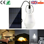 15W/20W Solar Power Panel LED Bulb Light Portable Indoor Outdoor Camping Lamp UK