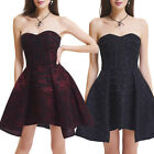 Red Floral Pattern Lace Steampunk Costume Women Gothic Victorian Corsets Dress