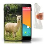 STUFF4 Gel/TPU Case/Cover for LG Google Nexus 5/D821/South America Alpaca