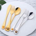 Children Kids Flatware Set Knife Fork Spoon  Stainless Steel Cutlery 6Pcs/2 Sets