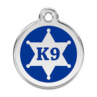 Red Dingo Dog Cat Pet ID Tag Charm FREE Personalized Engraving K9 SHERIFF BADGE