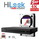 Hikvision CCTV 4K 1080P HD 5MP NightVision Outdoor DVR Home Security System Kit