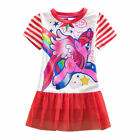 Kids Girl 3-8Y Dress Short Sleeve My Little Pony Mini Skirt Casual Cartoon Party