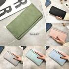 Women Synthetic Leather Solid Large Capacity Wallet Coin Card Holder 8HOT