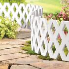 FLEXIBLE PLASTIC LATTICE HAMMER-IN LAWN EDGING PLANT BORDER GARDEN EDGING WHITE