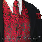 New Style Men&#039;s Paisley Dress Vest and Neck Tie Hankie Set For Suit or Tuxedo <br/> Best Quality 22 Colors Formal Wedding Prom XS - 6X PJC