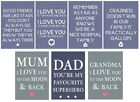 Sentiment Fridge Magnet Witty Family Mum, Dad, Grandma Valentine's, Mother's Day
