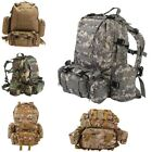 55L Military Tactical Assault Pack Backpack Army Molle Bug Out Backpacks Outdoor
