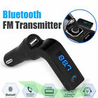 Wireless Bluetooth FM Transmitter Radio Adapter Hands-Free Car Kit USB Charger фото