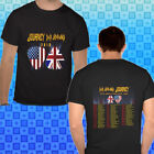 DEF LEPPARD + JOURNEY NORTH AMERICAN TOUR 2018 Concert Shirt Black Tee M-3XL image