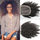 "3 Way Partings Mongolian Afro Kinky Curly Human Hair 4X4 Lace Closure 10""-20"""