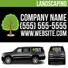 Landscaping Business Logo Vinyl Decal Personalized Advertising Your Text - 3 pcs
