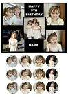 OWN PERSONALISED COLLAGE PHOTO A5 EDIBLE CAKE TOPPER CUSTOM MADE MAKE PICTURE