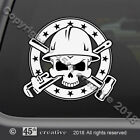 Oil Field Workers Skull Crossbones Decal oil rig roughneck skull & bones sticker