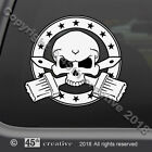 Painters Skull Crossbones Decal pro house painter painting skull & bones sticker