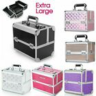 Extra Large Vanity Case Beauty Box Make up Jewelry Cosmetic Nail Storage Box UK