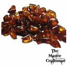 ☆10-50pc GENUINE BALTIC AMBER COGNAC POLISHED DRILLED LOOSE CHIPS BEADS GEMSTONE