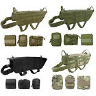 Clothing Shoes - Tactical Dog Hunting Training K9 Molle Vest Harness with 3 Detachable Pouch Bag