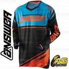 Answer 2018 Trinity Black Blue Orange Adult Race Jersey Shirt Motocross Enduro