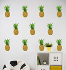 Pineapple Wall Stickers - Colourful Tropical Wall Art - Hawaii Party Stickers