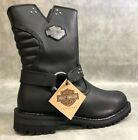 Women's Harley-Davidson Barford 8.25-Inch Black Leather Motorcycle Boots D84089