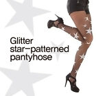 (Free shipping) Glitter star-patterned pantyhose/ Made in Korea /