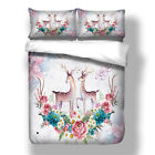 Animal Duvet Cover Set Twin/Queen/King Size Bed Quilt Cover Deer Bedding Set New