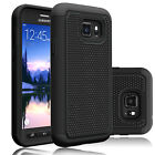 Black Shockproof Hybrid Rubber Rugged Case Cover For Samsung Galaxy Cell Phones