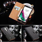 Premium Leather Stand Magnetic Flip Wallet Case Cover For Smart Phone LG Models