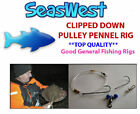 20 x CLIPPED DOWN PULLEY PENNEL RIGS.   TOP QUALITY  MADE  IN BRITAIN