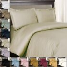 100% Cotton 300 Thread Count Striped Duvet Cover Sets image