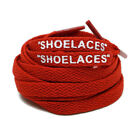 """SHOELACES"" Flat Laces Off-White The Ten Replacement Red, Baby Blue, Gray, Blue"