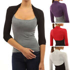 summer shrugs - Womens Long Sleeve Shrug Bolero Summer Crop Top Cardigan Sweater New