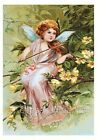 Angel Plays Violin Fabric Crazy Quilt Block Multi Sizes FrEE ShiPPinG WoRld WiDE