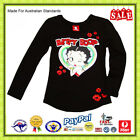 GENUINE AUS LICENSED Teen Girls Kids Betty Boop Long Sleeve Tee Top -SALE £16.37 GBP on eBay