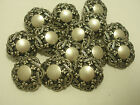 New Lots of Italian Fancy Silver Metal Buttons Sizes 1 inch 13/16 11/16 5/8  S25