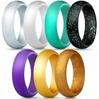 Silicone Rings Singles Wedding Bands for Women - 5.5 mm wide