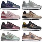 New Balance 574 Women's Shoes Faux Leather Sneaker Gym Sport Synthetic