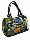 """US HANDMADE DOCTOR BAGS WITH  """"CARS"""" 50's PATTERN ,COTTON,  NEW"""