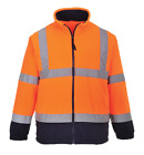 CLASS 3:2 HIGH VISIBILITY TWO TONE FLEECE JACKET w REFLECTIVE TAPE M-2XL UF301