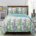 Relaxing Freya Paisley Floral Pattern Wrinkle-Free Reversible Quilt Set   image