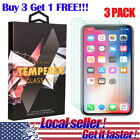 US 3Pack Premium Real Tempered Glass Film Screen Protector for iPhone X 8 Plus e