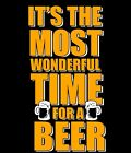 Funny T-shirt It's The Most Wonderful Time For A Beer Gift Free Shipping
