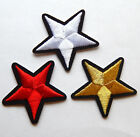 Embroidered star patches > iron-on or sew-on > applique > 4cm (40mm)