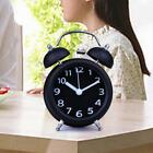 Modern Metal Bedside Mute Two Double Twin Bell Alarm Clock Night Light 18 Type