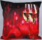 "Wedding Cushion Covers Anniversary 40cm 16"" Prosecco Glasses"