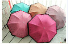 New Women Windproof Anti UV Umbrella Rain Lacework Princess Folding Umbrella
