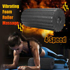 4 Speed Electric Yoga Vibrating Foam Roller Body Muscle Trigger Point Massage US