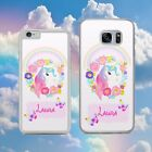 PERSONALISED BUTTERFLY UNICORN FLOWERS CUTE  Phone Case Cover for iPhone Samsung