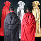 Hooded Cloak Cape Medieval Halloween Robe Costume Wedding Party Witch Wicca lot